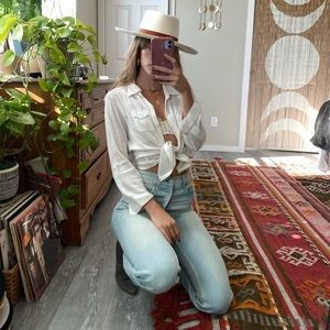 Vintage Guess button up blouse